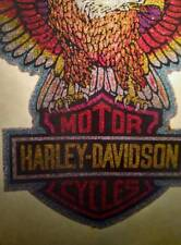 NOS Vtg Iron On Heat Transfer GLITTER Harley Davidson Motorcycle Eagle 70s 80s