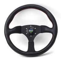 Universal spoon 350mm Leather Car Racing Tuning Sports Steering wheel