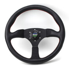 Universal spoon 350mm Leather Car Racing Tuning Sports Steering wheel
