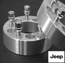 2 Pc JEEP Wrangler 5X4.50 WHEEL SPACER ADAPTER 1.25 Inch With Lugs # 5450B1/2