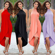 Women's Maxi Boho Dress Split Summer Beach Cocktail Evening Party Long Sundress