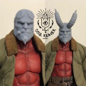 Mezco One:12 Collective Hellboy (2019) Unpainted Headsculpt 2 Pack