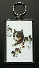 "Calico Cat Key Chain ~ 2""x3"" ~ New"