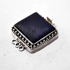 Lapis Silver Plated Box Tab Insert Clasp Tibetan Nepalese Handmade Nepal CL411