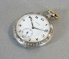 Palmyra 800er Silber Taschenuhr Grenzbesetzung 1914 Breguet Spirale 15 Jewels