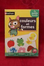 Jeu éducatif Nathan La Petite Ecole - Couleurs et Formes - 100% complet FR