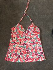BNWT BEAUTIFUL M&S  PLUNGE TANKINI TOP FLORAL SIZE 16 Free P&pl