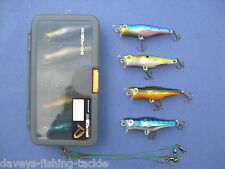 SAVAGE GEAR LURE BOX 4 TOP PERCH PREY PLUGS WIRE TRACES PIKE BASS FISHING KIT C7