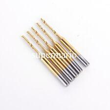 5x 1/8'' N2 Titanium Coated Carbide One Single Flute CNC Router Bit 1.5mm x12mm