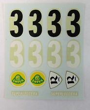 original 1960's Russkit LOTUS SUPERLEGGERA DECAL SHEET 1:24 1:32 mint NOS decals