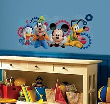 MICKEY MOUSE CLUBHOUSE CAPERS Mural WALL DECALS Disney Pluto Goofy Stickers NEW
