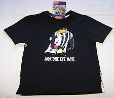 Collingwood Magpies AFL Boys Mascot Printed T Shirt Size 5 New