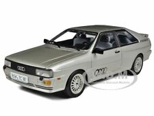 1981 AUDI QUATTRO COUPE SILVER 1/18 DIECAST MODEL CAR BY SUNSTAR 4152