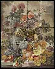 Tile Mural Backsplash Macon Ceramic Hummingbird Chakra Shell Art LMA008
