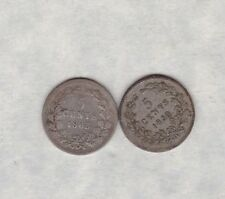 1850 & 1863 NETHERLANDS SILVER 5 CENTS IN NEAR VERY FINE CONDITION