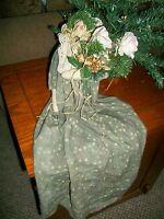 Angel Doll Soft Sculpture Shelf Sitter Hand Crafted VTG Folk Art Winter Decor