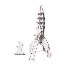 Fold-up Cardboard Space Rocket DIY 3D Model Hobby Construction Fun Build Kit