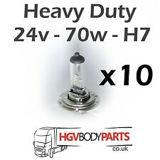 24v H7 Light Bulbs 70W for Commercial Vehicles x10