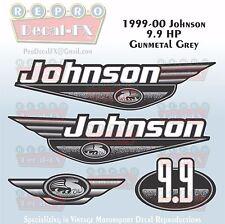 1999-00 Johnson 9.9HP Gunmetal Grey Outboard Reproduction 4Pc Marine Vinyl Decal