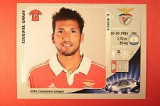 PANINI CHAMPIONS LEAGUE 2012/13 N. 466 GARAY BENFICA BLACK BACK MINT!