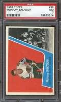 1963-64 TOPPS #35 MURRAY BALFOUR PSA 7 BLACKHAWKS  *DS7303