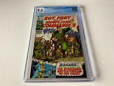 SGT FURY AND HIS HOWLING COMMANDOS 72 CGC 9.6 SAHARA MARVEL COMICS 1969