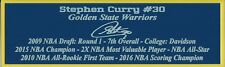 Stephen Curry Autograph Nameplate Golden State Warriors Photo Basketball Jersey