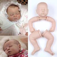 "Unpainted Soft Vinyl Doll Kits Head+3/4 Limbs For 22"" Reborn Sleeping Dolls DIY"