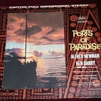 Ports Of Paradise CAPITOL Stereo Banner EXOTICA Die-Cut Cover LP ALFRED NEWMAN