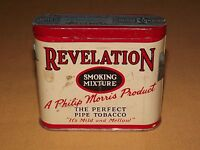 VINTAGE OLD PHILIP MORRIS PROD REVELATION SMOKING MIXTURE PIPE TOBACCO  TIN CAN