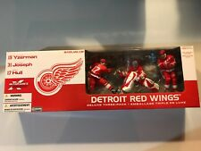 McFarlane Toys NHL Detroit Red Wings Deluxe 3-Pack Yzerman Joseph Hull Red! New