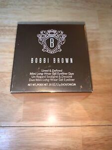 Bobbi Brown Lined & Defined Mini Long-Wear Gel Eyeliner Duo .05oz./1.5g EACH NIB