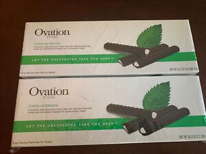 2 Boxes 35.3-Ounce Ovation Dark Chocolate Mint Sticks 300 Pieces Each Box = 600