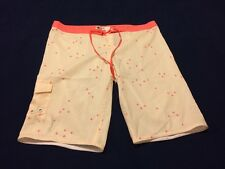 Imperfect Mens DC Boardshorts Size 30 Ivory/Coral beb