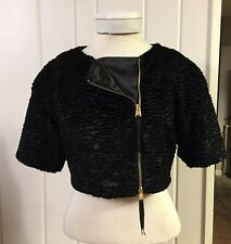 BCBG MAX AZRIA  Black Cropped 3/4 Sleeve Jacket  Size Small S Amazing!