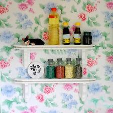 1:12 Children Dollhouse Miniature Kitchen Wooden Wall Shelf Shelving Rail-