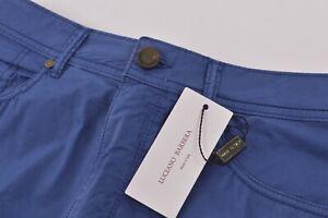 Luciano Barbera NWT 5 Pocket Casual Pants Sz 46 30 US Royal Blue Cotton Blend