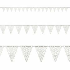 12ft Christmas Elegant Snowflakes Party Pennant Flag Banner Bunting Decoration