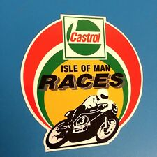 CASTROL ISLE OF MAN RACES Sticker, For TT Racing Fans, Motorbike Helmet Sticker