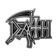 More details for official licensed - death - logo metal pin badge death metal
