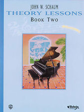 "JOHN W. SCHAUM ""THEORY LESSONS"" PIANO METHOD MUSIC BOOK 2 ALFRED BRAND NEW SALE!"