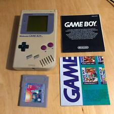 Nintendo Gameboy Original + Game + Poster