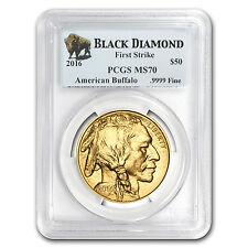 2016 1 oz Gold Buffalo MS-70 PCGS (FS, Black Diamond)