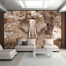 BILD FOTOTAPETE TAPETE FOTO BILD Elefant Braun Wand  Stein Skulptur 10115 P4