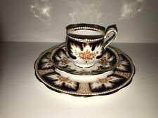 "ROYAL ALBERT ""Royalty"" Cobalt Tea Cup, Saucer & 8"" Plate"