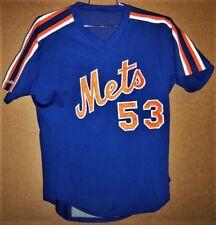 New York Mets #53 Blue 1987-1992 Era Batting Practice Jersey and Free Pants!