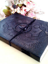 Handmade Leather Journal Celtic Black Cat Eye Diary Vintage Sketchbook Gift Book