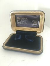 Vtg Blue Bulova Wristwatch Watch Presentation Box Case Art Deco 23 Jewels