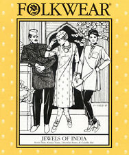 Folkwear Jewels of India Kurta, Kamiz Tunic, Pants Gandhi Hat Sewing Pattern 135