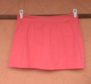 Lands End Swim Skirt Skort Built in Brief CORAL Size 14